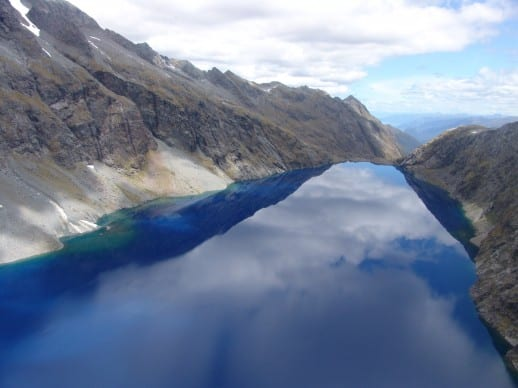 A high altitude lake in the depths of Fiordland