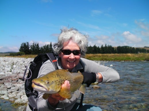 New Zealand Fly Fishing Expeditions - Happy Scots and big New Zealand Brown trout