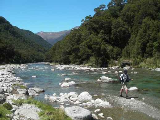 New Zealand Fly Fishing Expeditions - awesome water and a hot day